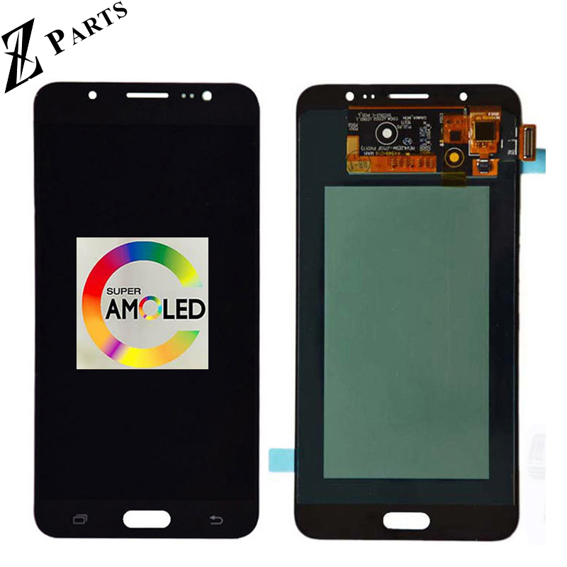 100% D'origine AMOLED lcd pour samsung Galaxy J7 2016 J710FN J710F J710M J710Y écran lcd avec ensemble numériseur à écran tactile