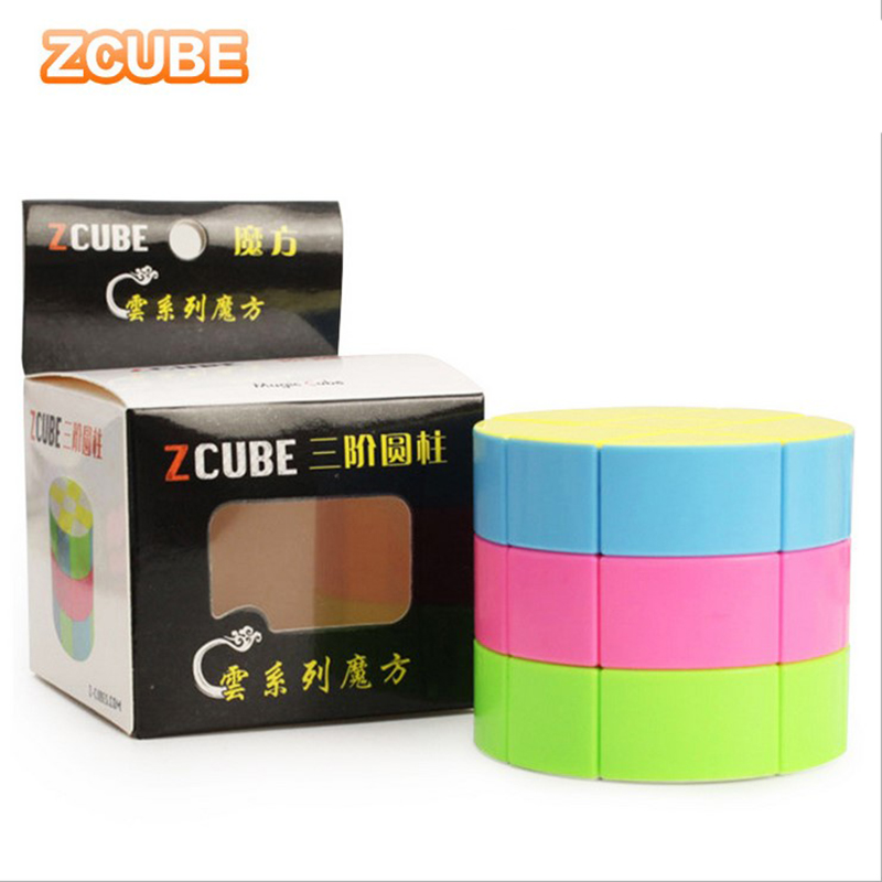 ZCUBE Cloud Series 3x3 Cylinder Magic Cube Speed Puzzle Toy - Colorful