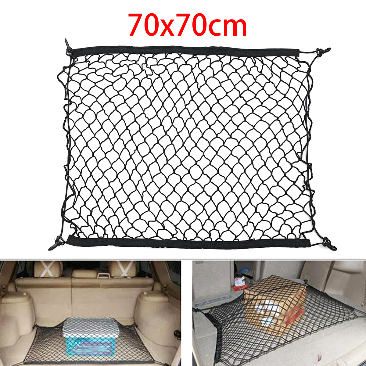 Rear Cargo Organizer Storage Car Trunk Elastic Mesh Net For Toyota CHR C-HR 16