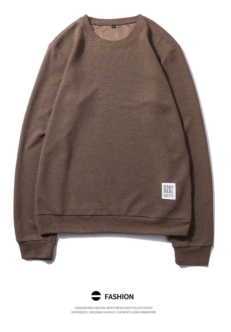 7Colors Autumn Casual Men Sweatshirts Solid Hoody Top Basic O Neck Sport Hoodies Male Spring Crewneck Streetwear Brand Clothing 06