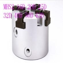MHS2 16D 20D 25D 32D 40D 50D 63D  Parallel Style Air Gripper 2 Finger Rotating Double Act Jaw Cylinder Bore 16-63mm