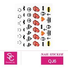 Sweet City Nail Art Gel Polish Cartoon Stickers For Manicure Beauty Nail Tools Acrylic Decorations QJ6
