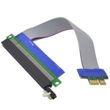 Chipal flexível pci-e 1x a 16x riser cartão extensor adaptador pci express fita pci-express cabo de extensão para bitcoin miner
