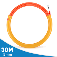 New 1Pcs 5mm Cable Wire Puller Wear Corrosion Resistant Rodder Conduit Snake Cable Installation Tool Fish Tape 30M Long