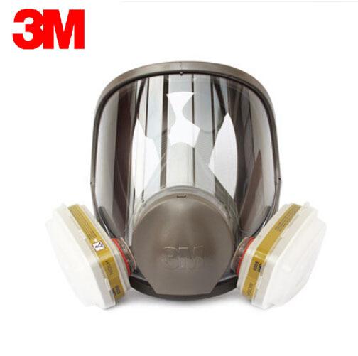 3 M 6800 + 6006 Respirador Máscara de Gas Ácido/Cartucho de Vapor Orgánico Máscara de Protección Respiratoria 7 Artículos para 1 Unidades Aprobado POR NIOSH LT061
