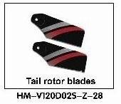 Walkera NEW V120D02S Parts HM-V120D02S-Z-28 Tail rotor blades