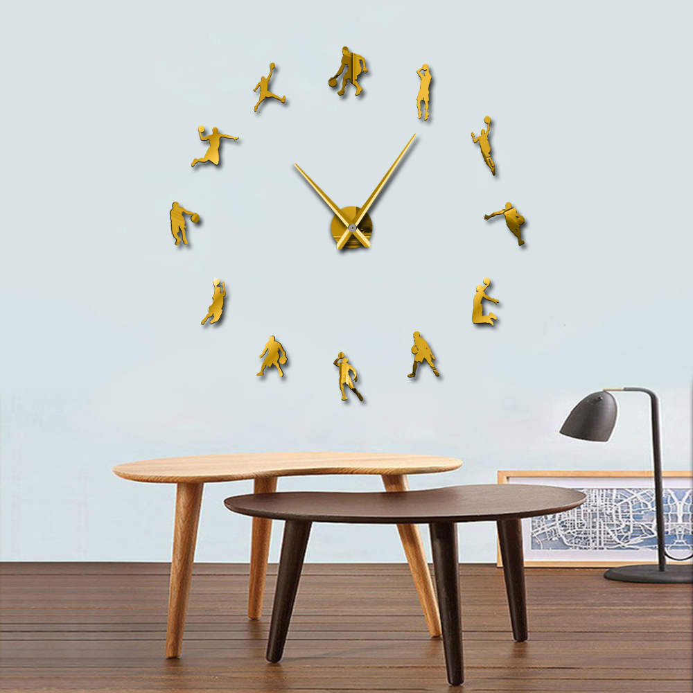 1piece Slam Dunk Diy Large Wall Clock Basketball Players
