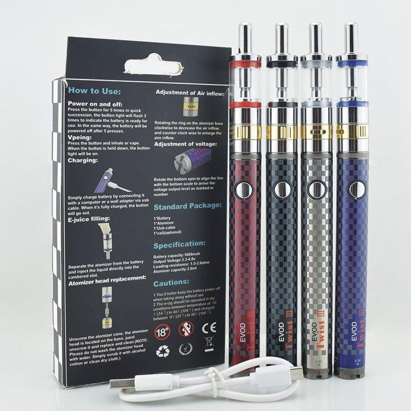 UNTER ZWEI Elektronische zigarette Evod Twist 3 mods kit m16 zerstäuber Verdampfer ego shisha stift vape kits elektronische shisha vape flüssigkeit