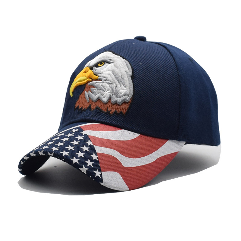 US $5 94 40% OFF|2019 Black Cap USA Flag Eagle Embroidery Baseball Cap  Snapback Caps Casquette Hats Fitted Casual Gorras Dad Hats For Men Women-in