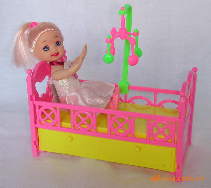For Barbie Doll Accessories Play House Available Small Confused Baby Educational Toys Small Doll Kelly Special Bed