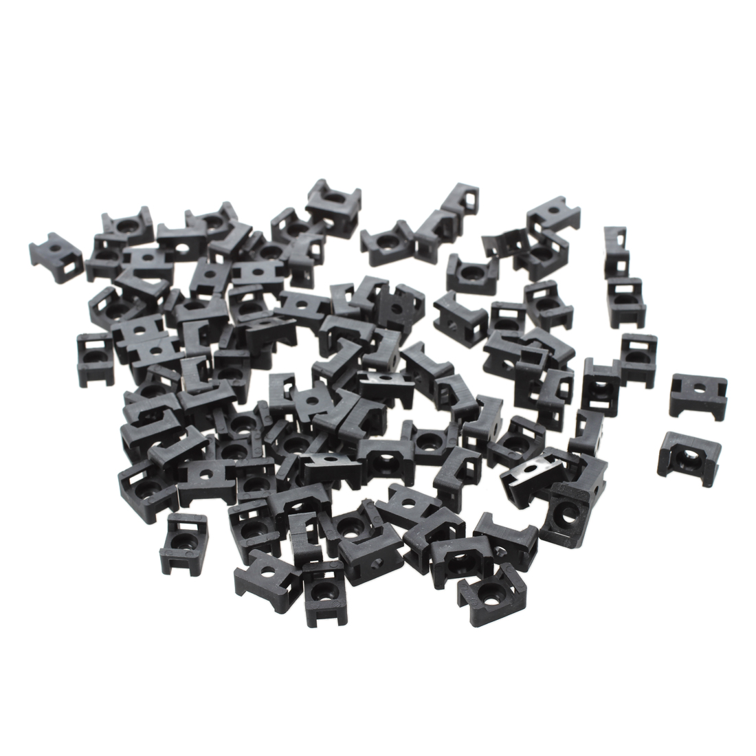 New Black 4.5mm Width Cable Tie Base Saddle Type Mount Wire Holder 100Pcs