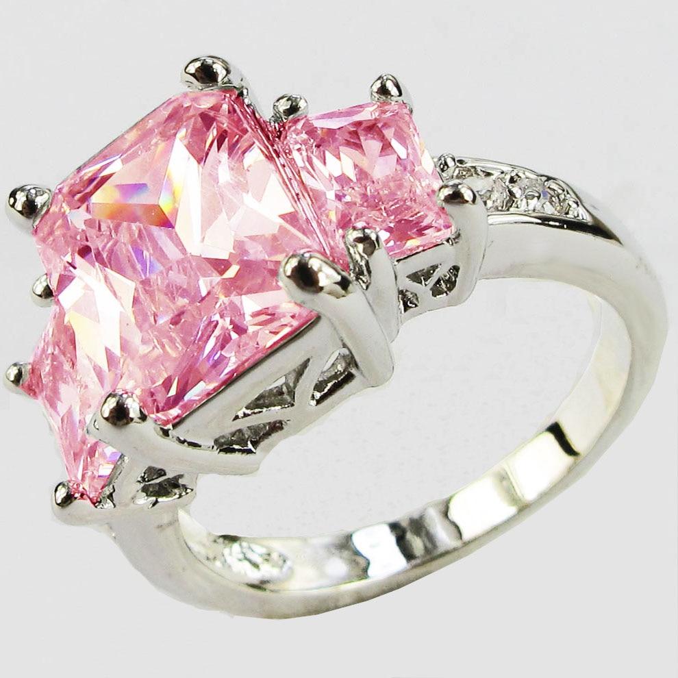 YaYI Fashion Women\'s Jewelry Pink Zircon Silver Color Engagement ...