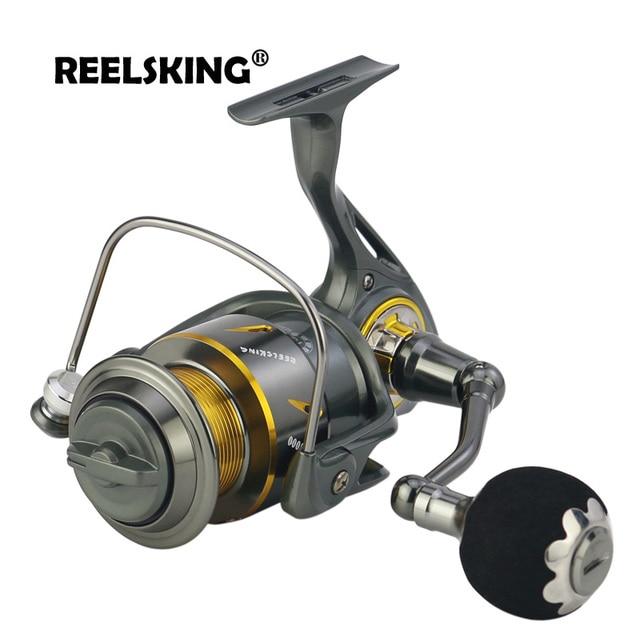 US $49 9 40% OFF|REELSKING RK Saltwater Spinning Fishing Reel 5 3:1 13+1 BB  5000 9000 Full Metal Anti Corrosion Sea Carp Fishing Wheel-in Fishing