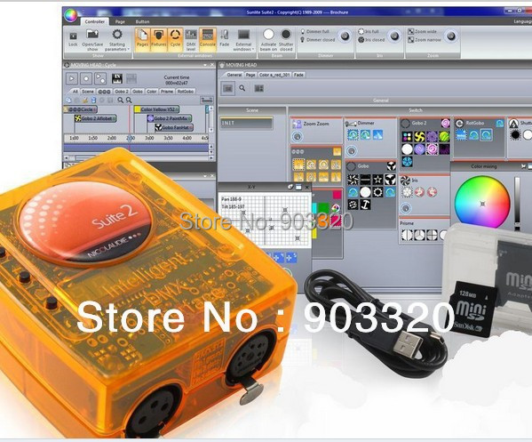 Free Shipping Original Sunlite Suite2 FC USB DMX 512 Controller Interface,DMX Controller System sunlite 1024 usb dmx 512 controller sunlite dmx can support win xp usb dmx light interface control