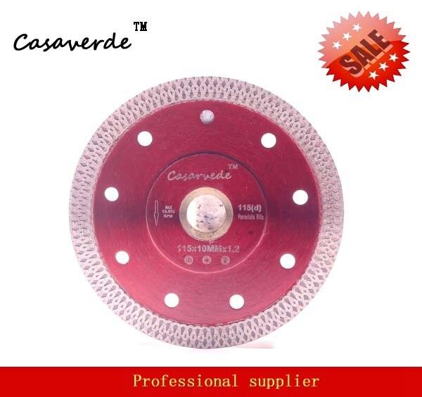 Casaverde Brand D115mm super thin diamond porcelain cutting blade for cutting ceramic or porcelain tile free shipping dc sxsb02 4 5 inch super thin diamond ceramic saw blade 115mm for cutting porcelain tile