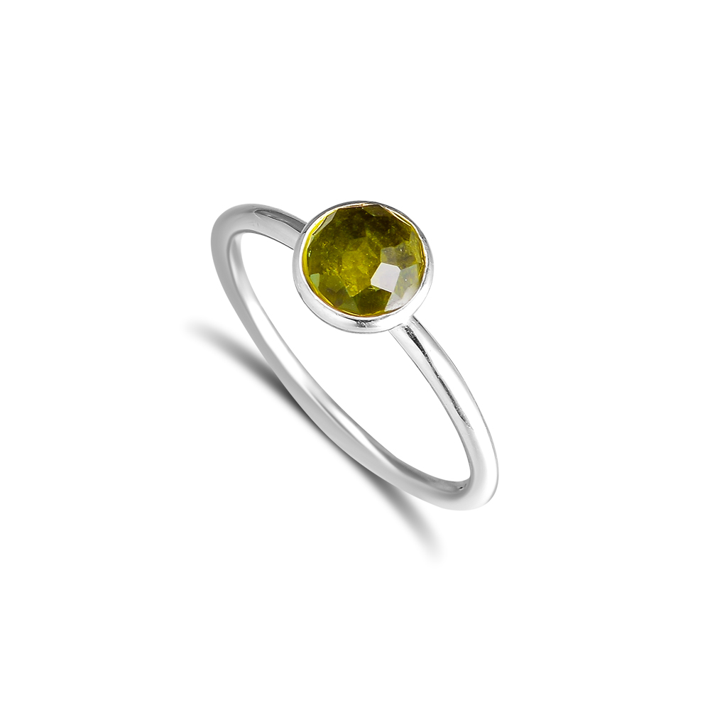 CKK 925 Sterling Silber August Droplet, Peridot Ringe Für Frauen Original Fashion European Style DIY Schmuck