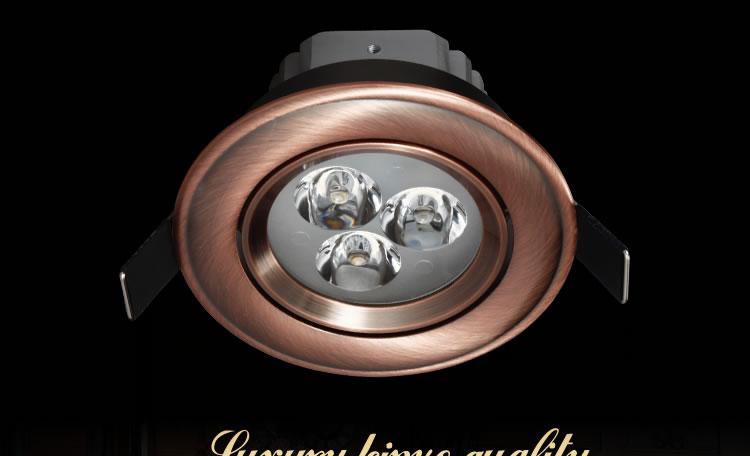 30X DHL estilo europeo bronce/cobre rojo 3W 5W 7W LED regulable blanco puro/frío lámpara de techo blanco/blanco cálido - 2