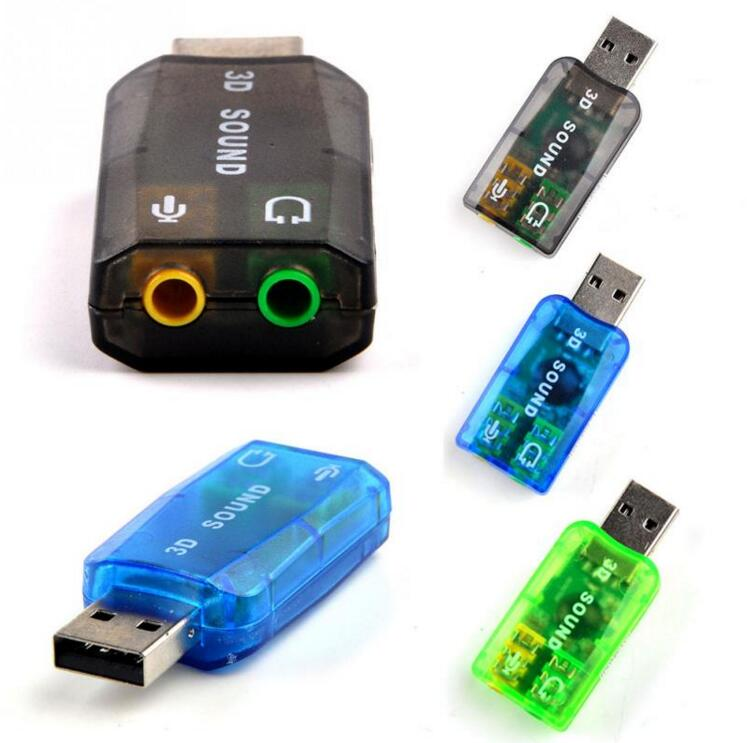 100pcs lot 3D External USB Card Adapter 5 1 Channel Sound Professional Microphone 3 5mm Interface
