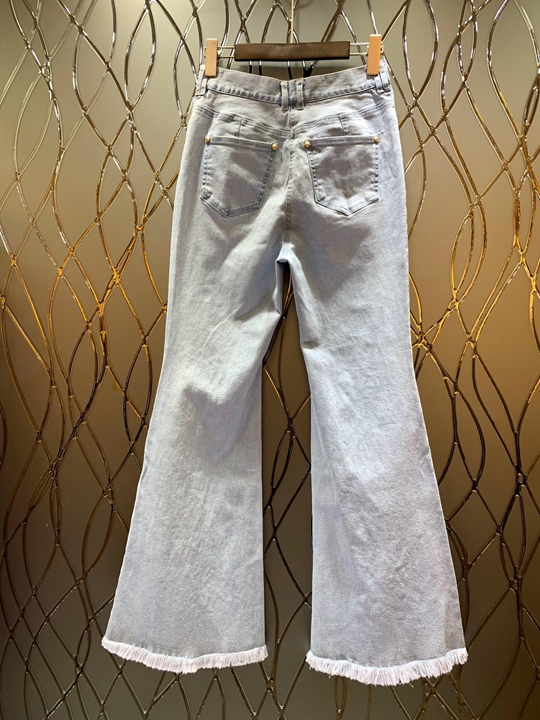 Du Trompette Printemps Femmes Début Symétrique 108 Au Pieds Aveuglé Vêtements Occasionnel 2019 Décoration Poche Nouveau Blanc Pantalon Pour Barbu pt0ZqEWwx