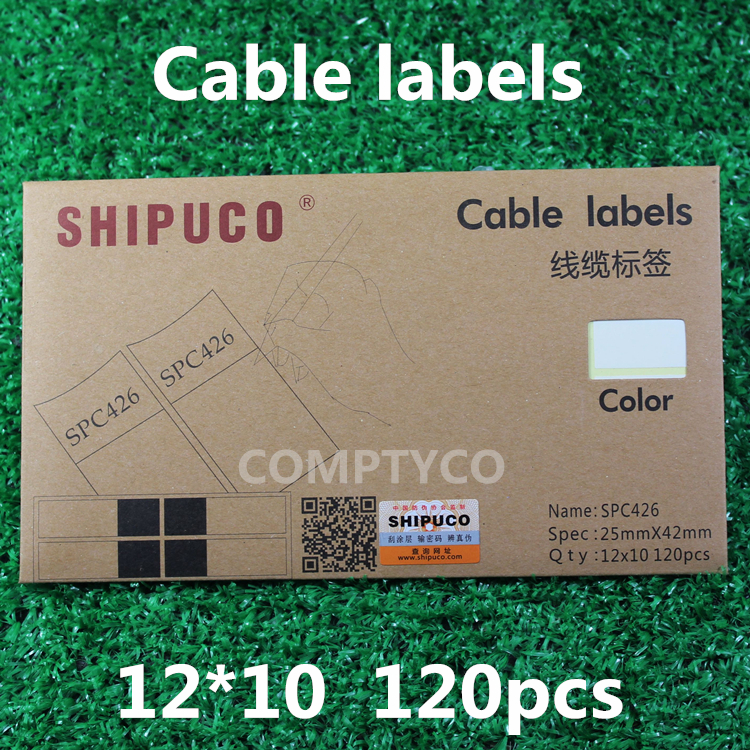 Free shipping Label Sticker Cable Labeling Sticker Waterproof Label Tags One pack 10 sheets 120pcs stickers