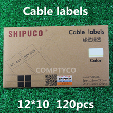Free shipping Label Sticker – Cable Labeling Sticker – Waterproof Label Tags – One pack = 10 sheets (120pcs stickers)