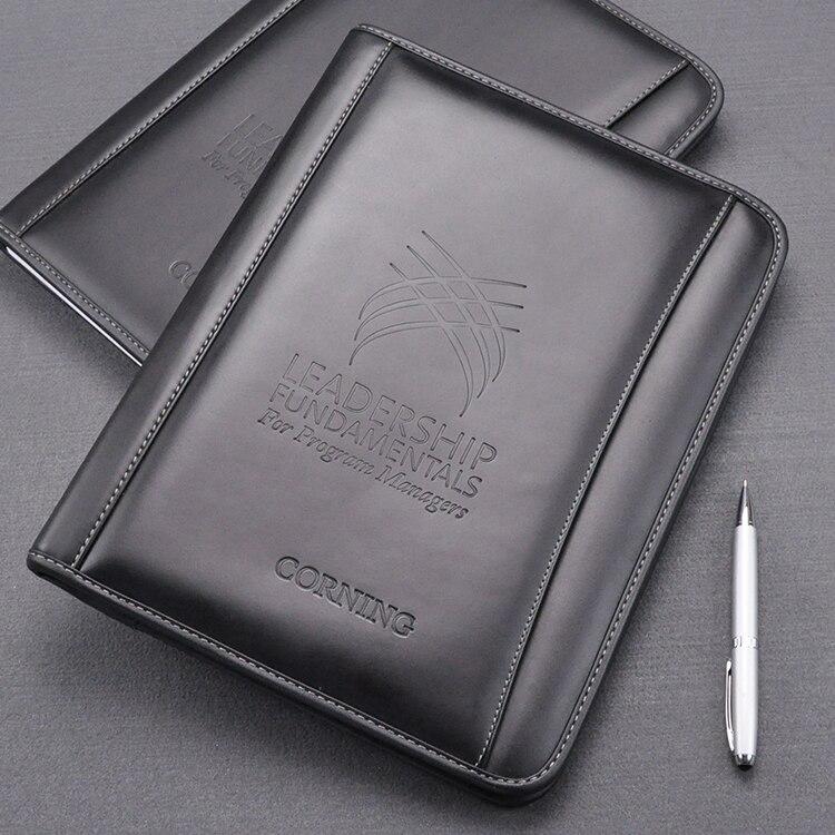 A4 cuir de vachette véritable manille travail business manager dossier organisateur conférence accord dossiers cours noir 756A