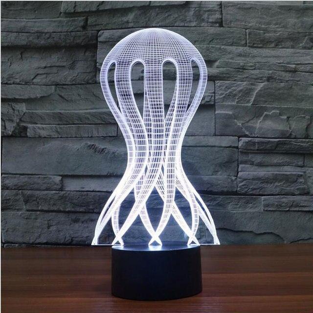 Novelty ozean quallen 3d lampe beleuchtung led nachtlicht ...