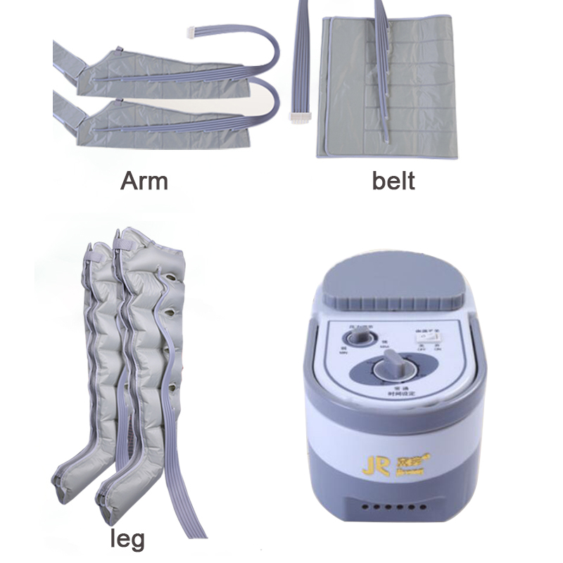 6 Cavity Electric Air Compression Leg Foot Massager Vibration Infrared Therapy Arm Waist Pneumatic Air Wraps