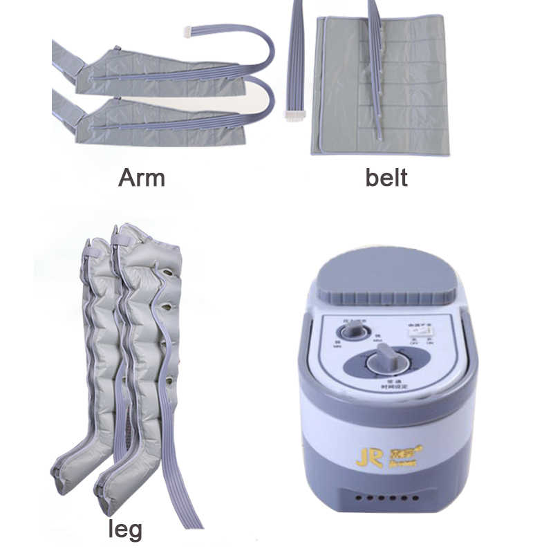 6 Cavity Elektro Air Kompression Bein Fuß Massager Vibration Infrarot Therapie Arm Taille Pneumatische Air Wraps Entspannen Schmerzen Relief
