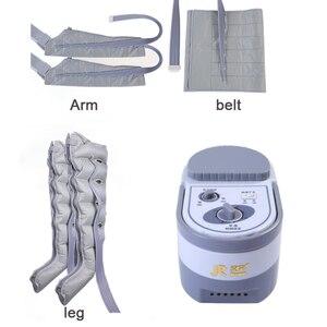 Image 1 - 6 cavidade elétrica compressão de ar perna pé massageador vibração infravermelho terapia braço cintura pneumática envoltórios de ar relaxar alívio da dor
