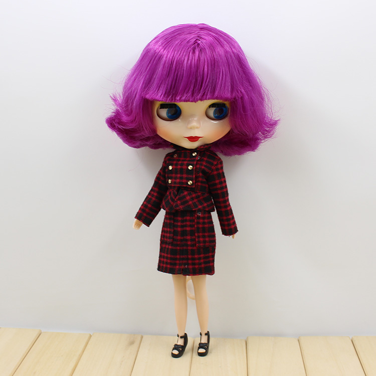 Free shipping Nude Doll For Series No.130BL732 Doll PURPLR hair White Skin Suitable For DIY Change Toy For Girls все цены