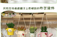 Kawaii Keramische Ingemaakte Vetplanten Bonsai Auto Bells Jushi Craft Gift Pop Bell Windchime Deur Opknoping Vintage Interieur
