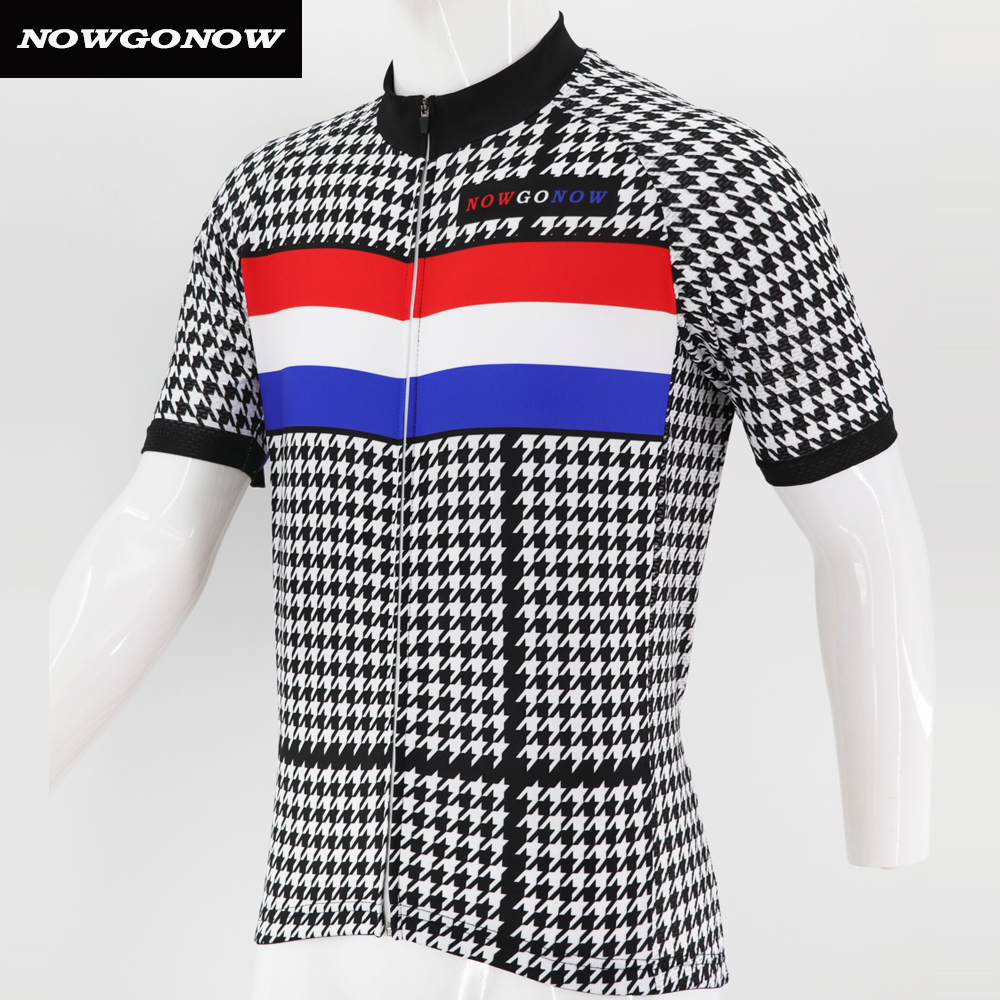Man 2018 cycling jersey Netherlands national team nowgonow bike wear  clothing top racing outdoor sport full zip 100% Polyester-in Cycling Jerseys  from ... 7017fb73b