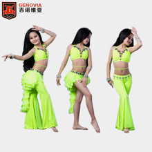 2019 Promotion Top Fashion Women Tribal Children Belly Dance Costume 3 Pcs Top+drum Dancing Skirt +pant Ballroom Performance
