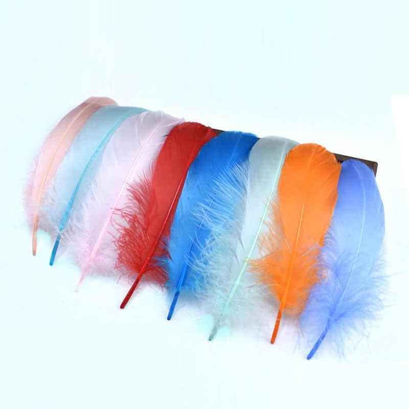 보석에 대 한 도매 공예 깃털 자연 다채로운 거 위 깃털 파티 장식 13-18cm DIY 홈 plumas 액세서리 만들기