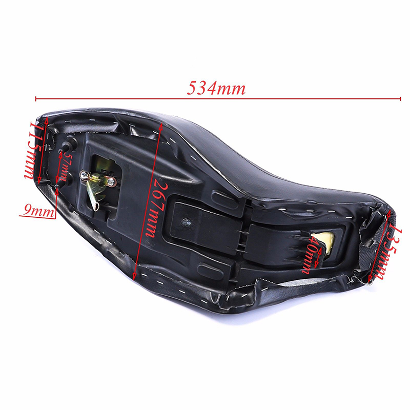 Black Cushion 534*267mm Motorbike Motorcycle 1PCS ATV Quad Seat Mini Sale