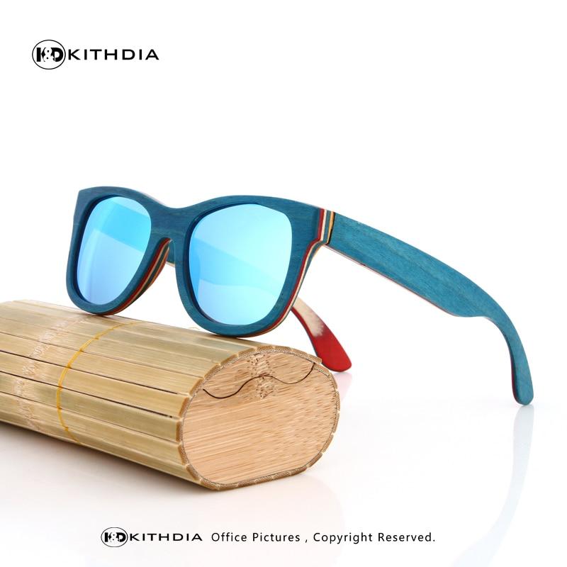 KITHDIA New arrival Fashion men skateboard Wood Bamboo Sunglasses Women Cute Eyewear Sun Glasses Handmade Cheap Sunglasses