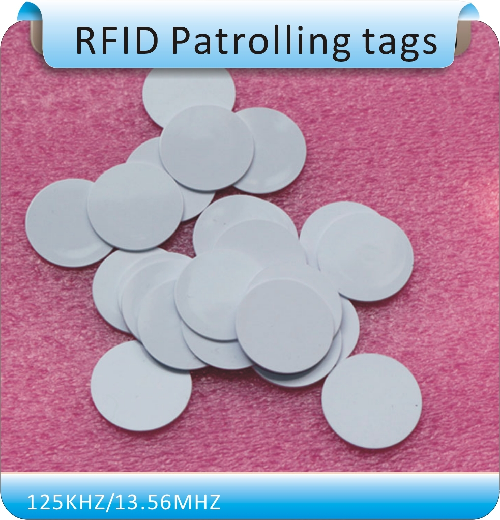 Free shipping coin style waterproof T5557 T5567 125KHZ RFID coil card RFID T5557 chips white 25mm