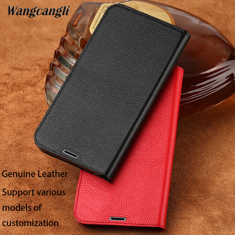 Wangcangli Ultra thin lychee texture phone case for Samsung galaxy s8 all hand made flip mobile phone protection case
