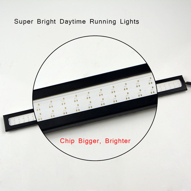 New update DC 12V 17cm 100% Waterproof  Ultra Bright COB LED Daytime Running lights Auto DRL Bar light Driving Fog lamp