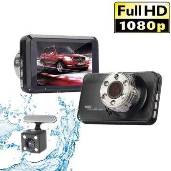 "Dash Cam Dual Lens Full HD 1080P 3"" Car DVR Vehicle Camera Front+Rear Night Vision Video Recorder G-sensor Parking Mode WDR"