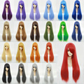 Full Lace Human Cosplay Natural Wigs Japanese Anime Game 70cm Long Straight Wig Heat Resistant Fashion Lady Synthetic Hair 9-24#