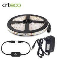 12 v led luz de tira regulável 2835 smd itouch sensor controle ip65 tira flexível impermeável 1 m 2 m 3 m 5 m sensor luz da cama