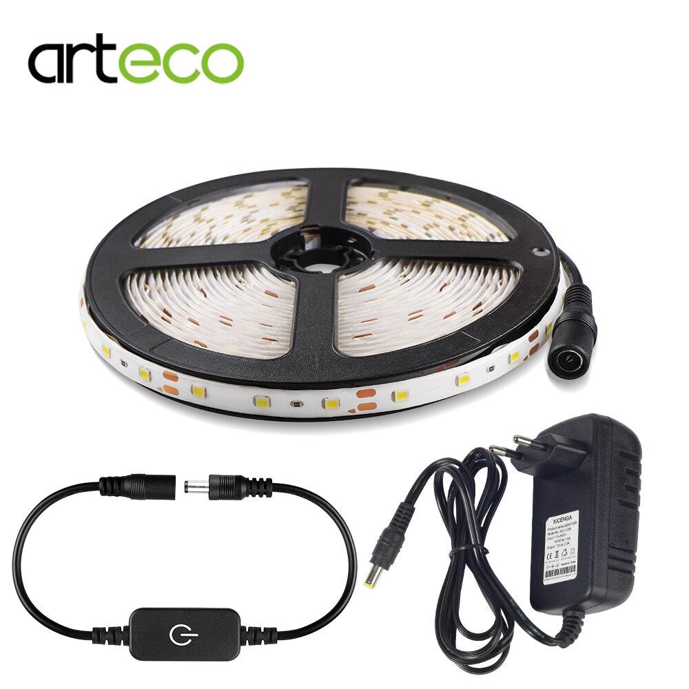 12V Led Strip Light Dimmable 2835 SMD iTOUCH Sensor Control IP65 Flexible Strip Waterproof 1M  2M  3M  5M Sensor Light Bed Light