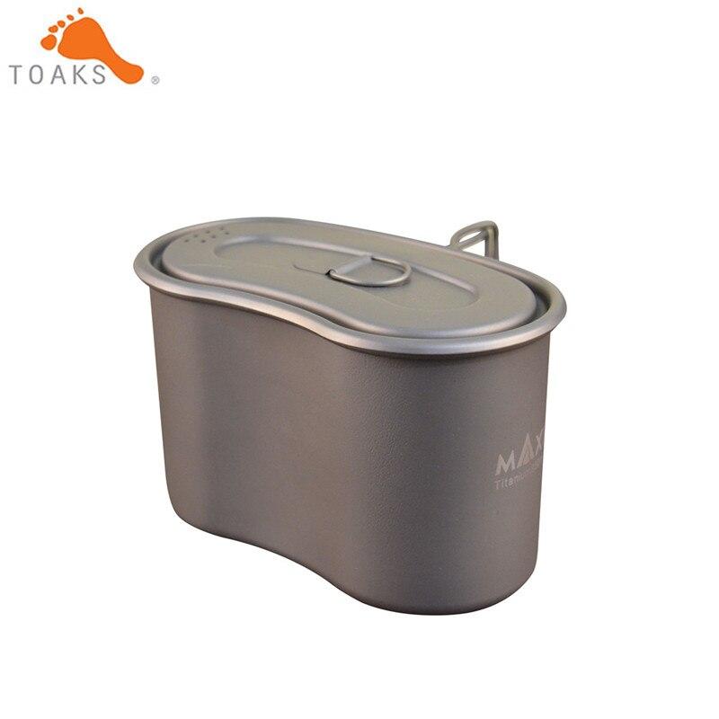 MAXI GC-950 unique homme militaire boîte à Lunch titane Camping Pot tasse survie Mulit outil 950 ml