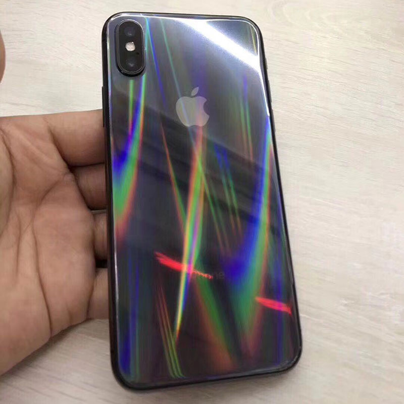 Fashion Laser Transparent Back Skin Phone Stickers For IPhone 11 6S 7 8 Plus X XS Max XR Ultra Slim Soft Full Coverage Protector