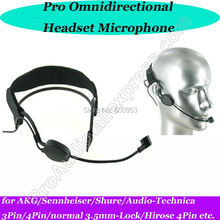 MICWL New Design Head worn Headset Microphone for Sennheiser AKG Shure Audio-Technica Wireless Mic Bodypack etc.