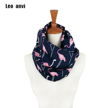 Pink Flamingo Scarf infinity circle loop scarf silk Bird Animal Print Scarf women's scarves Spring Summer fashion accessories