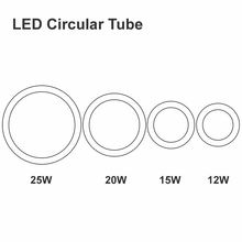New 12W 15W 20W 25W Round LED Tube AC85-265V G10q SMD2835 T9 LED Circular Tube LED circle Ring lamp bulb light