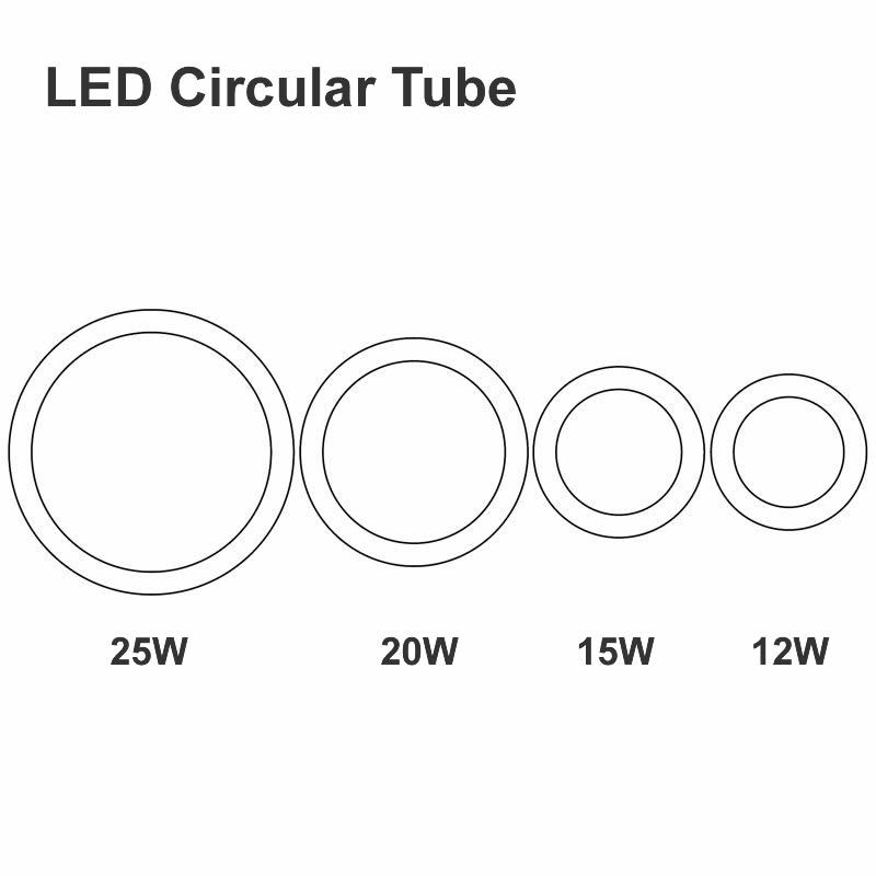 New 12W 15W 20W 25W Round LED Tube AC85 265V G10q SMD2835 T9 LED Circular Tube LED Circle Ring Lamp Bulb Light
